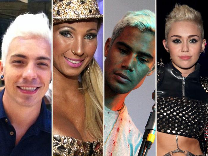 """<p>Se tem uma coisa que os músicos famosos gostam é mudar sempre de  visual. Eles adoram, principalmente, dar uma mudança nos cabelos com luzes, mechas ou  tinturas... Veja a seguir os músicos que ficaram loiros!</p><p></p><p><strong><a href=""""http://entretenimento.r7.com/musica/fotos/lady-gaga-amy-e-justin-bieber-ja-viraram-tatuagens-veja-20120704.html"""">Lady Gaga, Amy e Justin Bieber já viraram tatuagens; veja</a></strong></p><p><a href=""""http://entretenimento.r7.com/musica/fotos/veja-os-cantores-que-estao-com-o-tanquinho-em-dia-20120626-3.html""""><strong>Veja o corpão sarado dos cantores famosos</strong></a></p>"""
