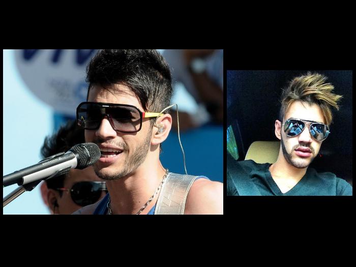 """<p>Gusttavo Lima também adora mudar o cabelo. Veja como ele ficou loiro! <a href=""""http://www.vagalume.com.br/gusttavo-lima/"""">Saiba mais aqui</a></p>"""
