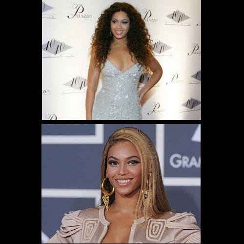 """<p>Beyoncé muda seus cabelos de cor. Loira, morena, com fios cacheados... <a href=""""http://www.vagalume.com.br/beyonce/"""">Veja mais aqui</a></p>"""