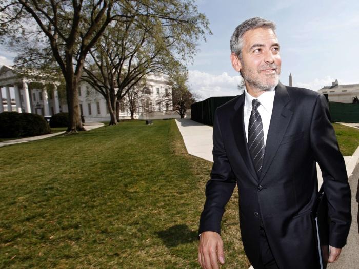 <p>O galã George Clooney é um dos grisalhos mais famosos do cinema</p>