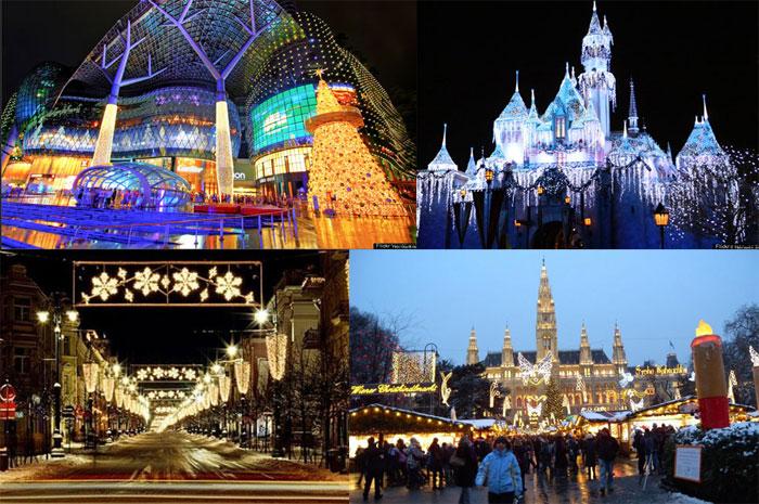 <p>A tradição de colocar luzes de Natal começou no século 18 com as famílias ricas da Alemanha, que costumavam colocar velas para decorar suas árvores de Natal. Graçasà invenção da luz elétrica, a mania se espalhou pelo mundo e as pessoas começaram a iluminar as suas casas</p>