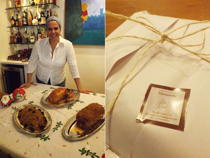 """<p>Alessandra Von é um talento nato na cozinha. Filha do cantor Ronnie Von, ela é fã das panelas, fogões e delícias tanto salgadas, quanto doces, desde os 12 anos, quando preparou o seu primeiro prato: um suflê de chocolate.</p><p></p><p>Dona da """"Marmitinha"""", uma empresa especializada em bolos, que fornece para padarias de São Paulo e também sob encomenda, neste Natal, Alessandra decidiu elaborar um cardápio especial para a ceia. As encomendas podem ser feitas sob consulta.</p><p></p><p>Há 30 anos ela cozinha por paixão, e diz que seus maiores sonhos de consumo não são bolsas caras ou itens de marca.</p><p></p><p>—Não tenho vontade de ter bolsas de marca, como outras mulheres. Eu sonho em ter todas as minhas panelas importadas e claro, uma batedeira planetária gourmet.</p><p></p><p>O <strong>R7 </strong>invadiu a cozinha e a simplicidade do sabor das iguarias de Alessandra Von, e mostra especialmente para você, o passo a passo da sobremesa que ela preparou para o Natal: um delicioso Pudim de Panetone. Anote os ingredientes e mãos à obra!</p>"""