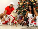 Belo e Gracyanne comemoram a chegada do Natal