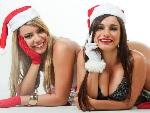 Musas do Brasileirão sensualizam em clima de Natal