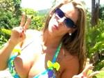 Loira passou a data com a família em um sítio em Minas Gerais