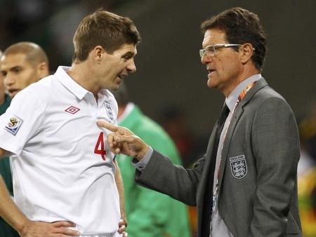 Gerrard e Capello tentarão levar a Inglaterra até as quartas de final