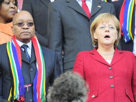 Primeira-ministra alemã elogia África do Sul por organização da Copa