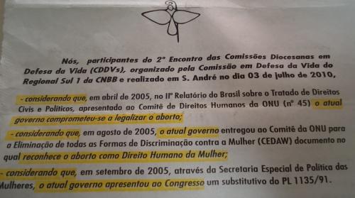 Panfleto contra Dilma