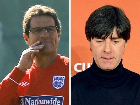 Capello, técnico da Inglaterra, e Löw, da Alemanha, podem se encontrar nas oitavas, mas também correm o risco de ir embora cedo para casa