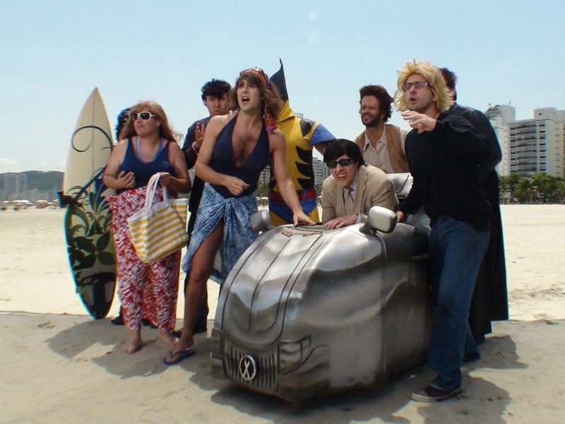Veja as fotos da gravação de Os Mutontos na praia