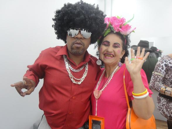 Tony Siqueira e Reinildes Ramos, animadíssimos, se juntam para a foto!