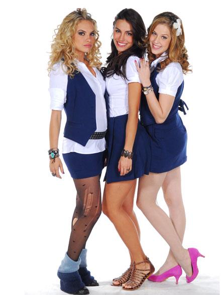 charme rebelde dos uniformes das meninas do Elite Way